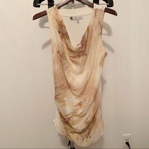 Jennifer Lopez Cream Blouse w/ Cowl Neck & Sheath